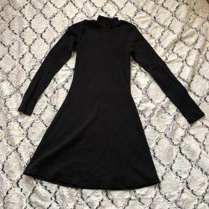 Turtle Neck skater dress (dark gray)